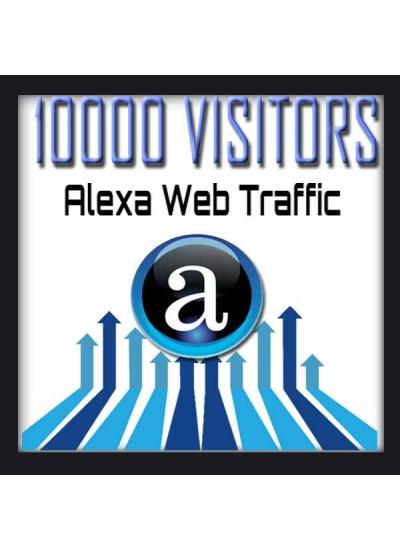 ALEXA WEB TRAFFIC - 10000 VISITORS - Boost Alexa Rank