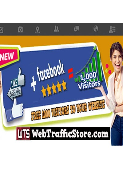 FACEBOOK PROMO -  FREE 1000 VISITORS TO YOUR WEBSITE