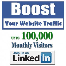 SOCIAL WEB TRAFFIC - LINKEDIN VISITORS to YOUR WEBSITE