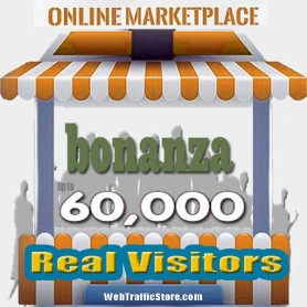 MARKETPLACE WEB TRAFFIC - BONANZA VISITORS to YOUR PRODUCT LISTINGS