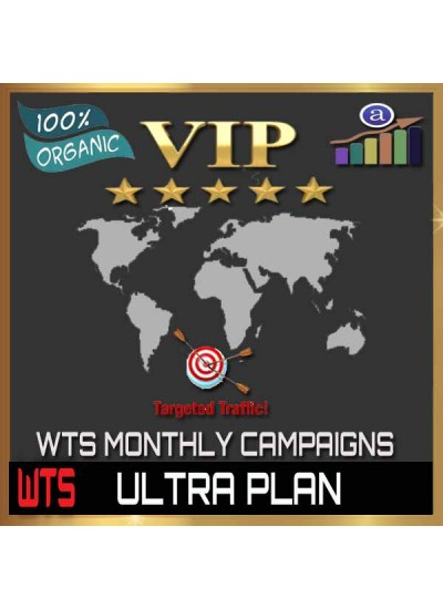 VIP WEB TRAFFIC MONTHLY CAMPAIGN - ULTRA PLAN - 500K VISITORS / 10 URL