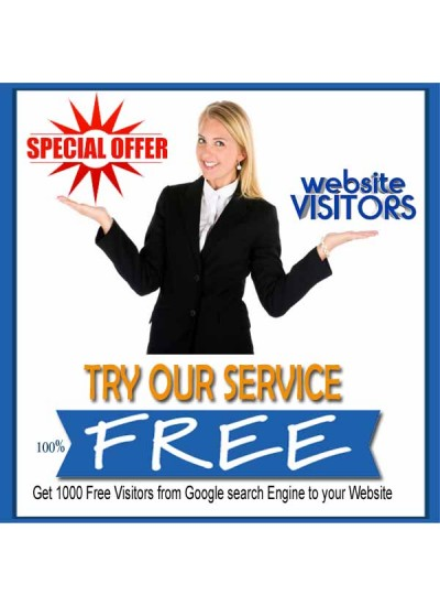 MONTHLY SPECIAL -  ABSOLUTELY FREE 1000 VISITORS TO YOUR WEBSITE